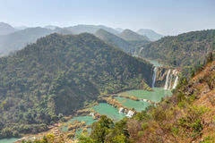 Mountain landscape with waterfall in China Stock Images