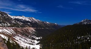 Mountain Landscape in Winter. Chinook Pass, Washington, USA Stock Photo