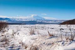 Mountain landscape in winter Stock Photo