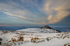 Mountain landscape in winter time in Carphatians. NCeahlau Royalty Free Stock Photos