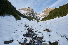 Mountain landscape on wintertime Royalty Free Stock Images