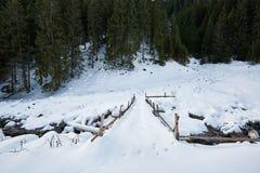 Mountain landscape on wintertime Stock Image