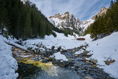Mountain landscape on wintertime Stock Images