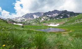 Free Mountain Landscape With A Lake In The Valley Stock Image - 89529501
