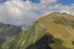 High altitude. Summer landscape in Fagarasi Mountains, landmark attraction in Romania Stock Photography