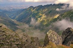 High altitude. Summer landscape in Fagarasi Mountains, landmark attraction in Romania Royalty Free Stock Photo
