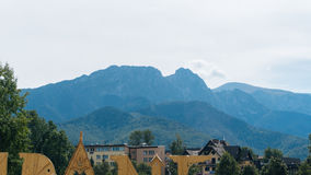 Mountain Landscape in Zakopane. Mountain landscape horizon in Zakopane from City Royalty Free Stock Images