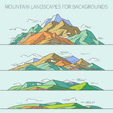 Mountain landscapes for backgrounds Stock Photos