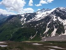 Mountain landscapes of the Caucasus royalty free stock photography