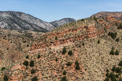 Mountain landscapes from cave of the winds road colorado springs Stock Photos