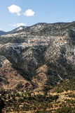 Mountain landscapes from cave of the winds road colorado springs Royalty Free Stock Image