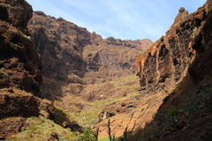 Mountain landscapes of gorges maska Royalty Free Stock Photos