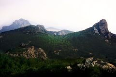 The mountain landscapes of Kantara, Turkey stock photo