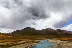 Mountain landscapes. Burkan River Valley. Kyrgyzstan Stock Images