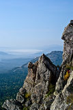 Mountain landscapes in national park Taganai. On South Ural in Russia Stock Photo