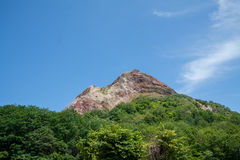 Mountain. The landscpae of Mt.Showa Shinzan, The great alive volcano in Hokkaido Japan Royalty Free Stock Image