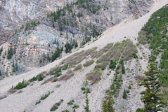 Mountain landslide Royalty Free Stock Photo