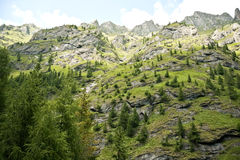 Mountain Lanscape in Fagaras Mountains in Romania Stock Image