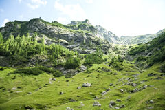 Mountain Lanscape in Fagaras Mountains in Romania Royalty Free Stock Photography