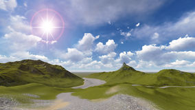 Mountain lanscape. Mountain and hill  lanscape with blue sky Stock Photos