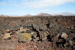 Mountain on Lanzarote, Canarian island Spain Stock Photos