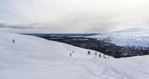 Mountain in Lapland. At winter day Royalty Free Stock Photos