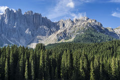 Mountain Latemar, Dolomiti Stock Photography