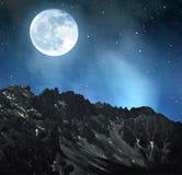 Mountain Latemar in night royalty free stock photo