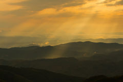 Mountain Layer in Sunshine Stock Image