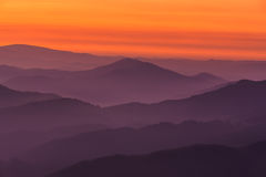 Mountain layers. A mountain layers, Encartaciones, Bizkaia, Spain Royalty Free Stock Images