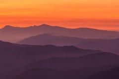 Mountain layers. A mountain layers, Encartaciones, Bizkaia, Spain Stock Photo