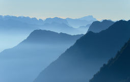 Mountain layers stock photography