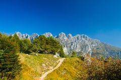 Mountain   lecco Royalty Free Stock Images