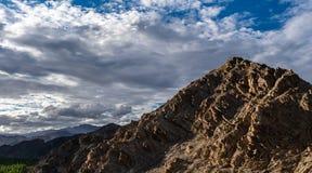 Rocky Mountain in Leh Ladakh ,Jammu and Kashmir ,. Mountain in Leh Ladakh with Cloudy blue sky royalty free stock photo
