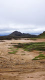 Mountain at Leirhnjúkur Lava Fields in Krafla area Stock Photo