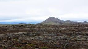 Mountain at Leirhnjúkur Lava Fields in Krafla area Stock Photography
