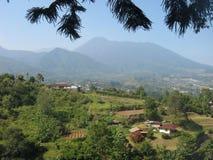 Mountain. Let's see silent mountain is a big volcano Stock Photos