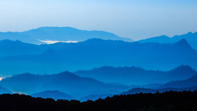 Mountain leyer level in thailand Royalty Free Stock Photo