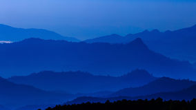 Mountain leyer level in thailand Royalty Free Stock Image