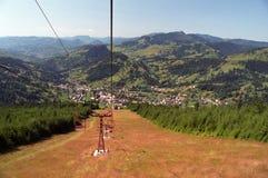 Mountain lift. From Borsa resort Romania Royalty Free Stock Photo