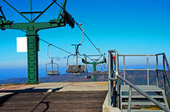 Mountain lift in autumn Stock Images