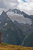 Mountain lift dombai Stock Photo