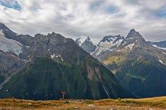 Mountain lift dombai Stock Image