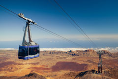 Mountain lift (funicular) at the top Royalty Free Stock Images