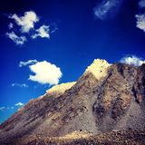 Mountain. The mountain in the light in Tibet Royalty Free Stock Photos