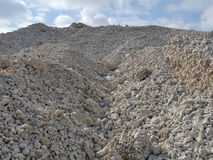 Mountain limestone gravel Royalty Free Stock Images