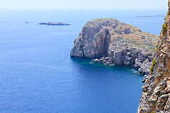 Mountain in Lindos bay Royalty Free Stock Image