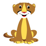 Mountain Lion. Cartoon of a smiling cougar sitting vector illustration