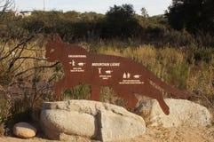 Mountain Lion Warning Sign Royalty Free Stock Photos