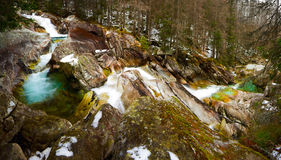 Mountain little river Stock Photography